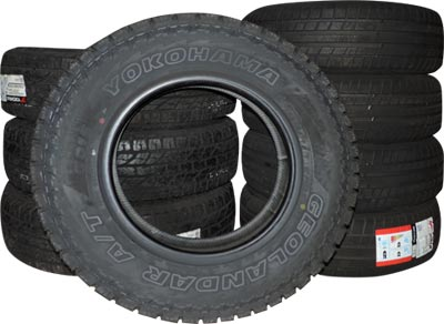 Picture of automotive tires