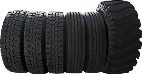 Picture of truck tires