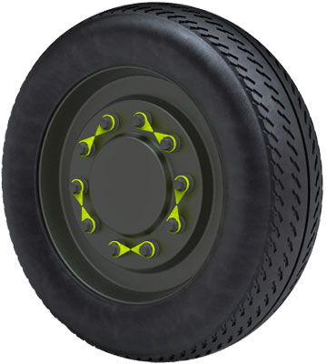 Picture of a wheel with Checkpoints